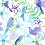 Purple / Blue / Green / White - 534207 - Polly Parrot - Opera Fun - Arthouse Wallpaper