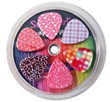 Guitar Picks for Girls - Medium Size - Assorted Variety 12-Pack Collection Set - Pretty Unique Designs Cool Pink Leopard - Best Gifts for Princess, Kids, Teens, Women, Ladies, Queen, Female Guitar Players - Medium - Premium Celluloid - Great Cool Awesome Birthday, New Year, Valentine Present