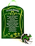 An Irish Blessing Plaque with Decorative St. Patrick's Day Concrete Stone