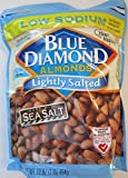 Blue Diamond, Lightly Salted Low Sodium Almonds, 16oz Bag (Pack of 3)