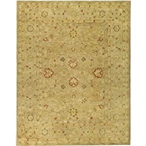 Safavieh Antiquities Collection AT822B Handmade Light Brown and Beige Hand-spun Wool Area Rug, 12-Feet by 18-Feet
