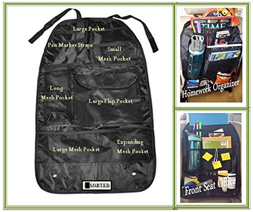 Big Save! Backseat Organizer - Travel, Homework, Baby, Toy, Car Office Organizer, Police Car Seat Or...