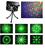 Lightahead® LED Projector Strobe flash Holographic Disco party Lighting Light Mini Portable Voice-activated Version with tripod (6 Patterns)