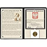 2003 PL 2 zlotych Pope John Paul II Coin Commemorating His 25-Year Anniversary with Album & Certificate 2 zlotyc Brilliant Uncirculated