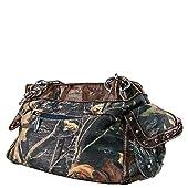 Brown Rhinestone Mossy Country Look Pistols Shoulder Handbag