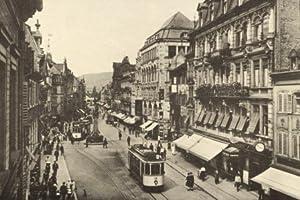 Freiburg i.Br., Kaiserstraße - 1928 - Reproduktion einer alten Ansichtskarte - Großformat 20x30 cm