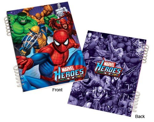 Marvel Heroes Lenticular Spiral Notebook - 1