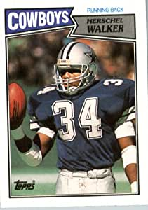 1987 Topps # 264 Herschel Walker Dallas Cowboys Football ROOKIE Card- Near Mint to Mint Condition - In Protective Screwdown Display Case!