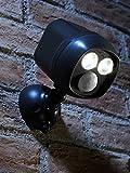 Auraglow Drahtloser Batteriebetriebener Ultra Heller 300 lm LED Spot mit Bewegungssensor, Schwarz