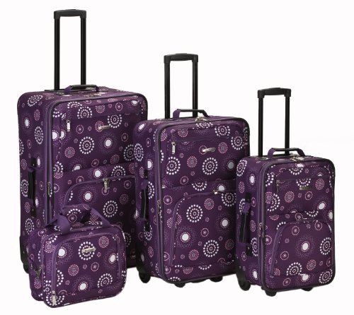 rockland-luggage-brown-leaf-4-piece-luggage-set-purple-pearl-one-size