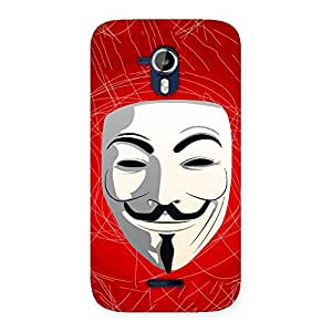 Premium Red Anonymous Mask Back Case Cover for Micromax Canvas Magnus A117