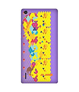 Stripes And Elephant Print-55 Huawei Ascend P7 Case