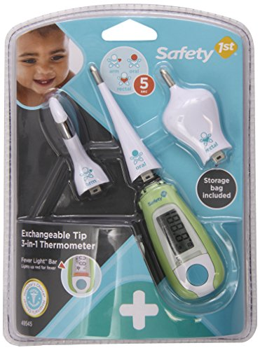 Safety 1St Exchangeable Tip 3 In 1 Thermometer