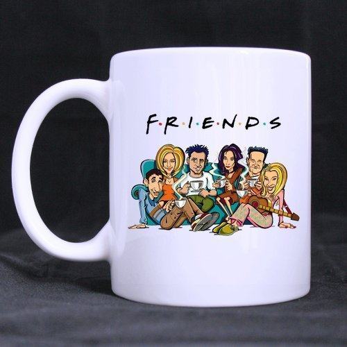 Mensuk Mug F.R.I.E.N.D.S 11 OZ White Mug 100% Ceramic Coffee/Tea White Cup