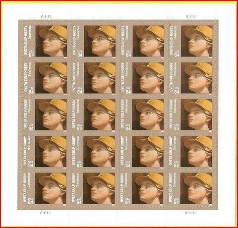 cott-oveta-culp-hobby-sheet-of-twenty-forever-stamps-scott-4510-by-usps