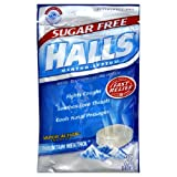 Halls Halls Advanced Formula Sugar Free Triple Soothing Action Mountain Menthol Cough Suppressant Drops , 25 Ct...