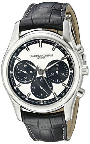 Frederique Constant FC396SB6B6 - Reloj para hombres, correa de cuero color negro