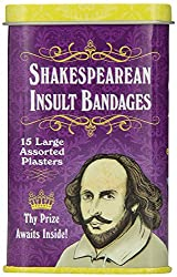 Accoutrements Shakespearean Insult Bandages from Accoutrements