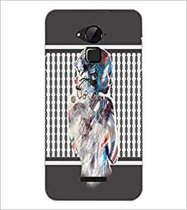 Printdhaba Mysterious Girl D-2710 Back Case Cover For Coolpad Note 3 Lite