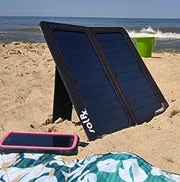 iWerkz 13W Dual-USB Solar Charger - Retail Packaging - Black
