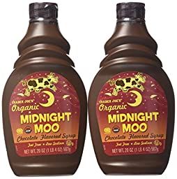 Trader Joe\'s Organic Midnight Moo Chocolate Flavored Syrup,20 Oz, 2 Pack