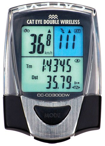 Cateye CD300DW Double Wireless Cadence Bicycle Computer