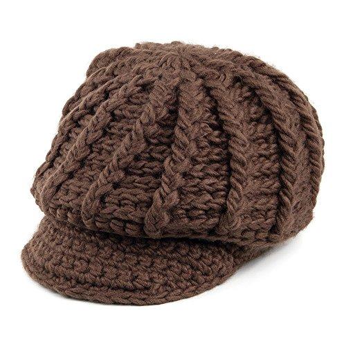 scala-hats-crochet-peaked-beanie-hat-chocolate-chocolate-1-size