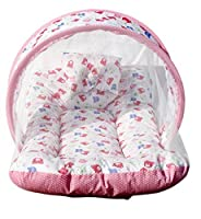 Amardeep and Co MT01 Toddler Mattress with Mosquito Net (Pink)