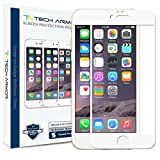 Tech Armor Apple iPhone 6 Premium Edge to Edge HD Clear Ballistic Glass Screen Protector (white Edge) - Protect Your Screen from Scratches and Drops - Maximize Your Resale Value - 99.99% Clarity and Touchscreen Accuracy
