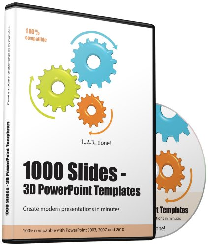 Over 1000 PowerPoint 3D Templates, Slides and Charts - Create presentation within minutes - Modern presentations for Business, Companies, Communication, Marketing, Managers, Entrepreneurs, Teams, Speaker, Doctors, Lawyers etc. - For PowerPoint 2003, PowerPoint 2007 and PowerPoint 2010 and PowerPoint 2013 and Keynote