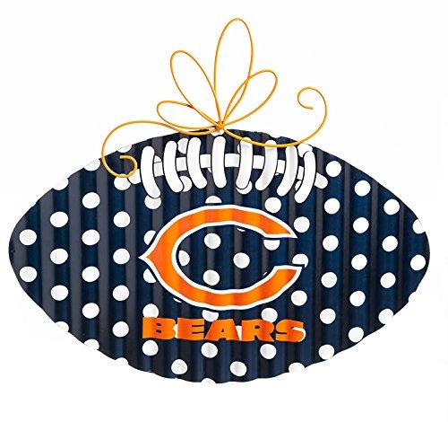 Team Sports America Chicago Bears Corrugated Metal Football Door Decor