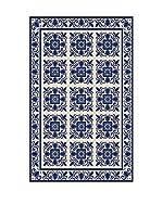 Huella deco Felpudo de Vinilo (Azul)