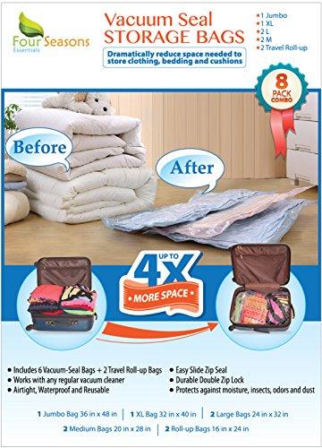 Vacuum Storage Bags 8 Multi size Premium Quality Space