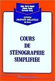Cours complet de sténographie simplifiée, corrigé