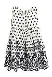 Little Girls Back To School Black and Wildly White Polka Dot Flora Summer Dress