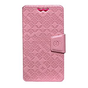 J Cover Aarav Series Leather Pouch Flip Case With Silicon Holder For Meizu MX5E Light Pink