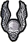 Skull Ghost Wings LIVE FREE RIDE FREE Race Biker Rider Racing Jacket T-shirt Vest Patch Sew Iron on Embroidered Badge Custom