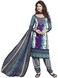 Offo*com Women's Chiffon Unstitched Salwar Suit (Multi-Colour)