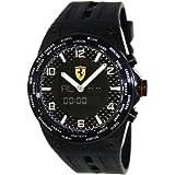 Ferrari World Time Swiss Made Men's Black Dial Analog Digital Watch FE-05-IPB-FC