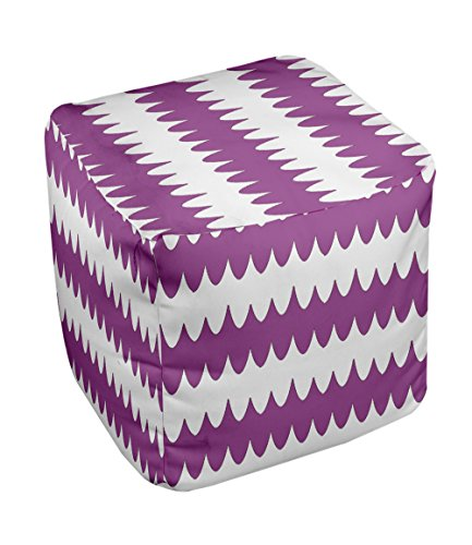 E by design FG-N20-Radiant_Orchid-18 Geometric Pouf