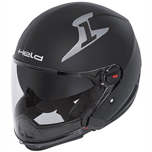 Motorcycle Held Jet Helmet Cross Bow 7461 Matt Black L UK