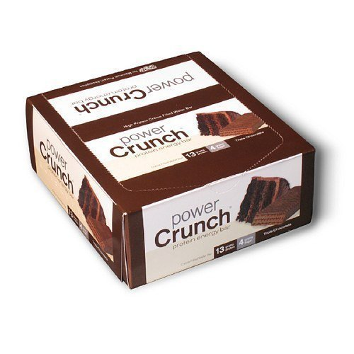 Power Crunch Protein Energy Bar, Triple Chocolate 12 ea by BIONUTRITIONAL RESEARCH GROUP