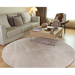 カーペット ラグマット 絨毯 円形マイクロファイバー ラグ