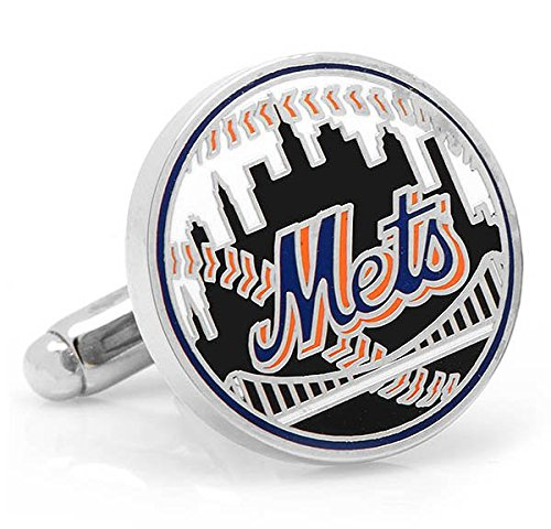 MLB New York Mets Baseball Cufflinks