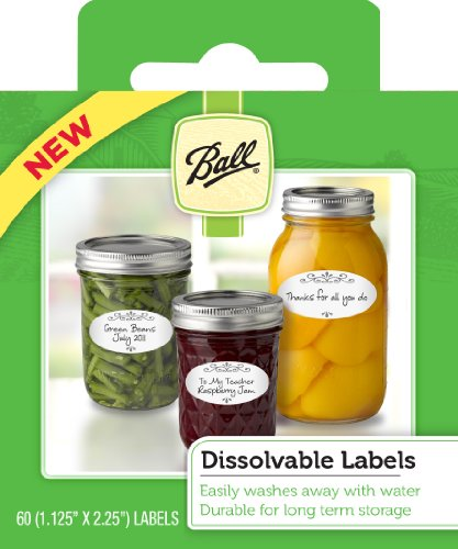 Ball Dissolvable Labels  – (Set Of 60) (by Jarden Home Brands)