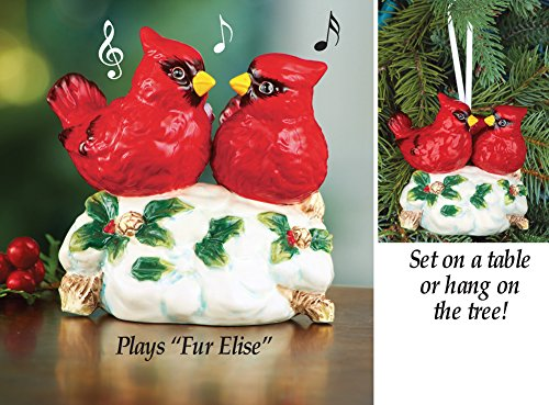 Musical Cardinal Tabletop Ornament