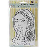 8-Inch by 6-Inch Jing Prima Marketing Bloom Cling Rubber Stamps