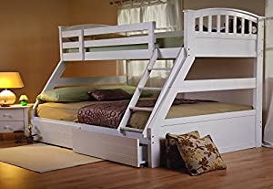 Sweet Dreams Epsom White Triple Bunk Bed