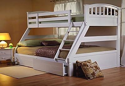 Sweet Dreams Epsom White Triple Bunk Bed