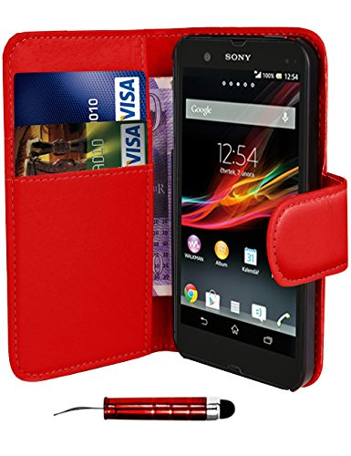 red-sony-xperia-e-c1505-book-quality-premium-pu-leather-flip-wallet-case-cover-pouch-screen-protecto